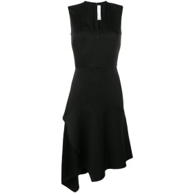 Victoria Beckham ドレープ Vネック ドレス - ブラック