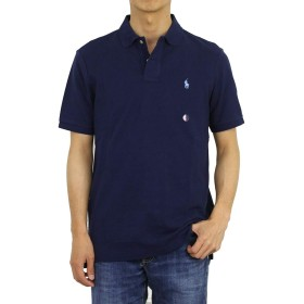 (ポロ ラルフローレン) POLO Ralph Lauren クラシックフィット メンズ ポロシャツ CLASSIC FIT 0105601 (US M (日本L相当), NWT NAVY) [並行輸入品]