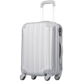 拡張ジッパースーツケース TSAロック 33リットル シルバー