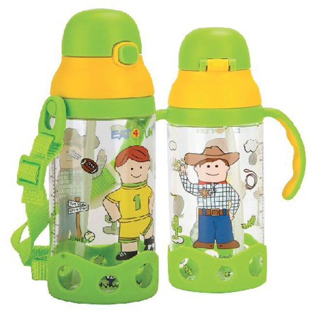 小小家 TRITAN彈跳吸管水杯~綠 全館滿5千贈星寶貝防曬乳效期至21年11月