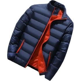 Fly Year-JP メンズ暖かい包装可能なスポーツ屋外ダウンコートダウンジャケットアウトコート Dark Blue S