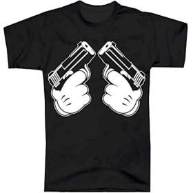 [MAO MAO] セクシー Tシャツ ストリート & スケーター パロディ GUN コットン100% MO-002 Lサイズ