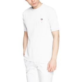 [フレッドペリー] Tシャツ PIQUE T-SHIRT F1674 メンズ 10WHITE UK M-(日本サイズL相当)