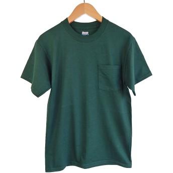 (ヘインズ) HANES BEEFY TEE POCKET ヘインズ メンズ ポケットTシャツ 5190p ビーフィー [並行輸入品] (M, フォレスト)