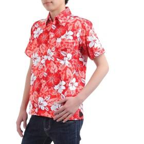 [OKI(オキ)] アロハシャツ フリーサイズ ユニセックス カラフル ダンス 衣装 イベント メンズ レディース (L, アロハレッド)