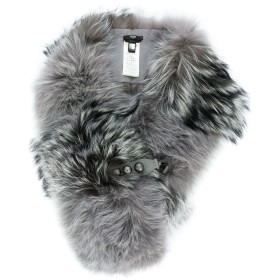 Fendi fox fur scarf - グレー