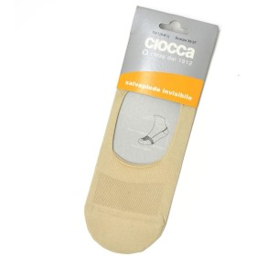Ciocca【チョッカ】ソックス靴下 Ref:61 Ecru コットン ナイロン エクリュ(2)