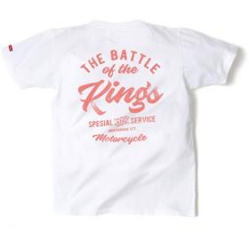 [モートガレージ] Tシャツ (ホワイト/XLサイズ) メンズ 半袖 大きいサイズ (カットソー ・ バトルオブキング プリント)