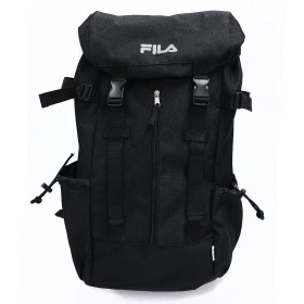FILA フィラ リュック 大容量 メンズ レディース リフレクター ロゴ スクールバック バックルリュック フラップリュック ブラック
