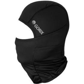 GORIX(ゴリックス) バラクラバ 夏 速乾 目出し帽[夏用 UVカット フェイスマスク ヘッドマスク サイクルマスク] バイク 自転車 アウトドア (mask-6) (ブラック)