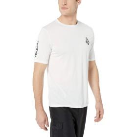 [ボルコム] [メンズ] 半袖 ラッシュガード Tシャツ (UVカット)[ N0111903 / Deadly Stones S/S ] 海 おしゃれ 水陸両用 WHT_ホワイト US M (日本サイズM相当)