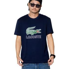 (ラコステ) LACOSTE Tシャツ ロゴプリント USAモデル TH6386 ネイビー L [並行輸入品]