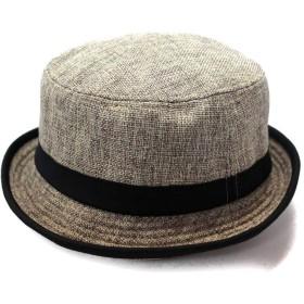 ハット ポークパイハット Pork Pie HAT 帽子 62.0cm ベージュ