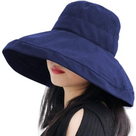 UVカット 帽子 Hoomoi ハット レディース 【UPF50+ UVカット率99% 紫外線対策】紫外線対策 日焼け防止 軽量 熱中症予防 取り外すあご紐 つば広 おしゃれ 可愛い 夏季 女優帽 小顔効果抜群 折りたたみ サイズ調節可 旅行 自転車 農作業