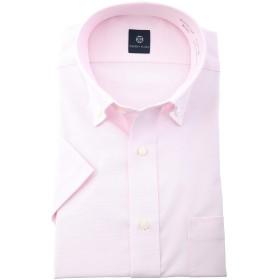 ワイシャツ 半袖 CHERRY PLAZA 形態安定・半袖ドレスシャツ クールビズ メンズ ピンク ボタンダウン 110 M