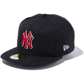 【メーカー取次】 NEW ERA ニューエラ 59FIFTY MLB NY ブラックXレッド ホワイトアウトライン 11308567 キャップ(ブラックXレッド 表記7 1/4)