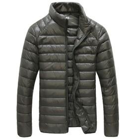 KIMIX ダウン ジャケット メンズ 超軽量 カジュアル 防風 防寒 暖かい 秋 冬 ウルトラライト コート 収納袋付き KMQ303