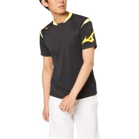 [Mizuno] サッカーウェア ソーラーカットフィールドシャツ 半袖 P2MA9045 ブラック×セーフティイエロー 日本 XL (日本サイズXL相当)