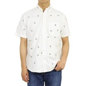 (ポロ ラルフローレン) POLO Ralph Lauren メンズ アンカー刺繍 オックスフォード ボタンダウン 半袖シャツ 胸ポケット0104377-M-WHITE [並行輸入品]