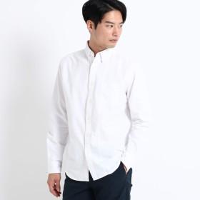 (ザ ショップ ティーケー) THE SHOP TK 切替オックスシャツ 61686661 04(LL) オフホワイト(003)