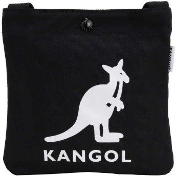 [カンゴール]KANGOL サコッシュ バッグ ショルダーバッグ メンズ レディース キャンバス ミニサコッシュ CANVAS MINI SACOCHE KGSA-BG00036 (ブラック/ホワイト)