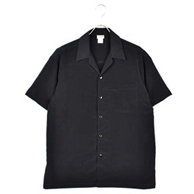 CALTOP(キャルトップ) OPEN COLLAR S/S SHIRTS (BLACK, S)