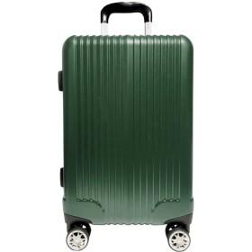 【A PERFORMER】スーツケース Wキャスターストッパー付 キャリーケース TSAロック搭載 超軽量 ファスナー(04018-14018-24018) (S-04018, マットグリーン)