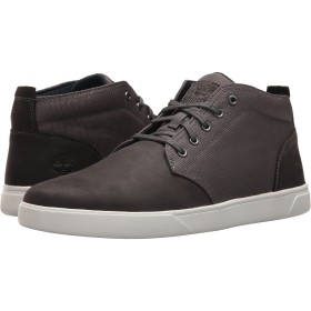 [ティンバーランド] メンズブーツ・靴 Groveton Leather and Fabric Chukka Dark Grey Nubuck 8 (26cm) D - Medium [並行輸入品]