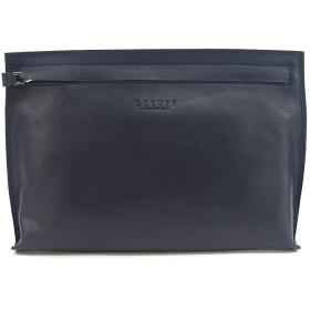 (ロトプ) LOTUFF レザーメンズクラッチバッグ シンプルバッグ デイパックユニセックス LO-1127 男女性用 (Lotuff Simple Leather Clutch Unisex) ネイビー [並行輸入品]