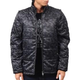 [エムシーディ] MCD ジャケット 袖脱着 カモ柄 シャイニー サーモライト アウター 183M1701 ブラック M
