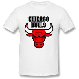 男のファションTシャツ Chicago-Bulls 面白い図案デザイン White 夏のプレゼント X-Large