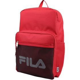 FILA(フィラ) デイパック リュック メッシュポケット 撥水 軽量 大容量 部活 普段使い (レッド)