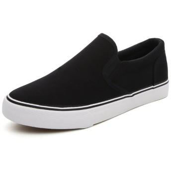 [ドリーマー] スリッポン スニーカー カジュアルシューズ 厚底 夏 黒 白 おしゃれ ローカット 軽量 メンズ 大きい かかとなし モカシン 男の子 ランニング ウオーキング メッシュ 通気性 靴ひもなし 男性 ブルー ブラック ホワイト 27.5cm