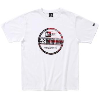 オンスポッツ別注 (ニューエラ) NEW ERA Tシャツ CITY LANDSCAPE STARS BIG ホワイト M