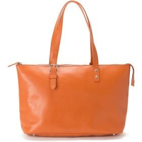 トートバッグ レディース レザー 本革 プライマートートミニ A4 牛革 トート 人気 通勤 軽量 海老名鞄 (オレンジ)