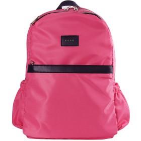 [ビッグハス]BIGHAS レディース 人気 おしゃれ リュック 軽量 マザーズバッグ 高校生 大学生 スクールリュック 撥水 カバン カジュアル 全12色 (ピンク)