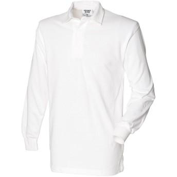 (フロント・ロウ) Front Row メンズ 長袖ラガーシャツ ポロシャツ トップス カットソー 男性用 (S) (ホワイト)