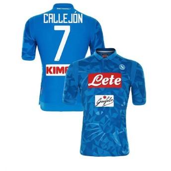 1819年度 Naples サッカーユニフォーム SSCナポリ ホーム ブルー 半袖 No.7 メンズ レプリカ 半袖 S