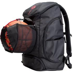 Kuangmiバスケットボールのバックパック ボールポケット すべてのスポーツジム トラベルバッグ ために バスケットボール、 サッカー、バレーボール、フットボール、ラグビー (黒, Small (30L))