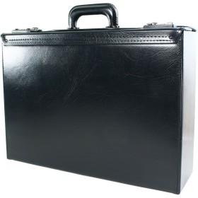 アタッシュケース フライトケース パイロットケース va- 75242-ike ナンバーロック付 合皮レザー バッグ No.75242 ブラック(Black)