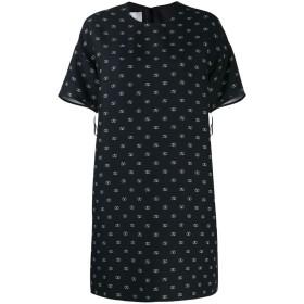 Valentino ロゴ シフトドレス - ブラック