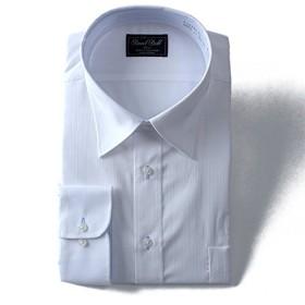 DANIEL DODD 長袖ワイシャツ 形態安定 ストレッチ ワイドカラーシャツ eadn83-1 大きいサイズ メンズ【1.白柄-5L】