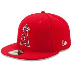ニューエラ (New Era) 59フィフティ キャップ - 本物 Los Angeles Angels 赤 7 1/2 (59.6cm)