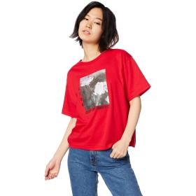 ウィゴー(レディース)(WEGO) ローズフォトTシャツ【レッド/F】