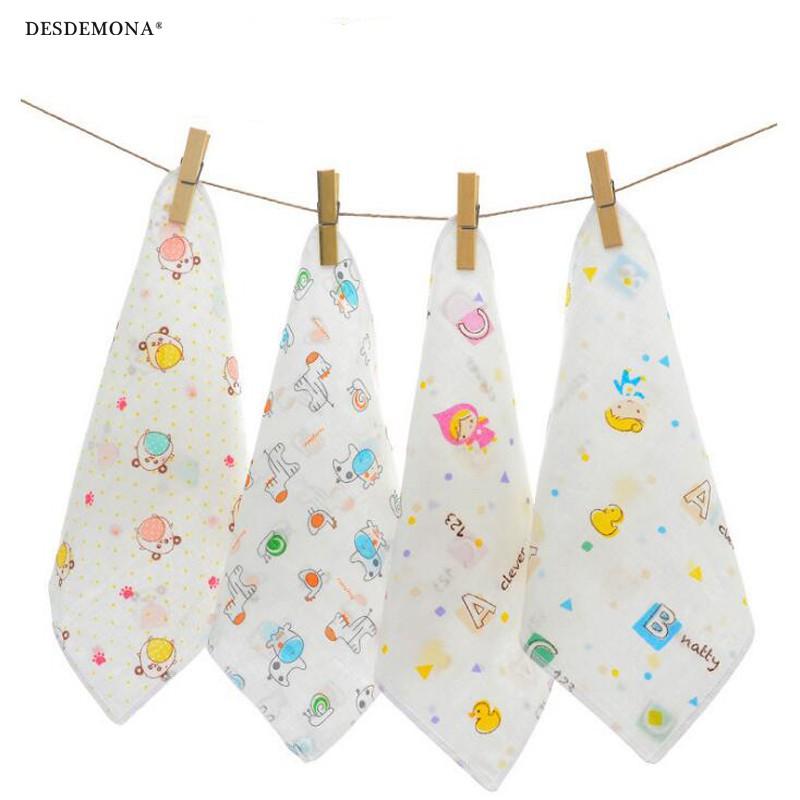 紗布口水巾 無熒光高密雙層紗布嬰兒純棉 寶寶紗布餵奶小方巾 獨立裝紗布巾