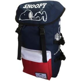 【スヌーピー】SNOOPY リュックサック ナイロン マウンテンパック ねそべりスヌーピー 大容量 91127 (NV/RD(トリコ))