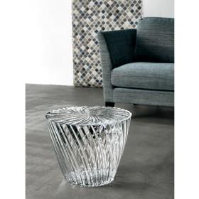 Kartell Sparkle カルテル スパークル イタリア製 サイドテーブル (デザイン・吉岡徳仁)アンバー