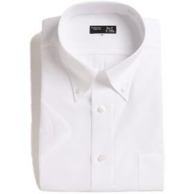 (ビーアンドティークラブ) B&T CLUB 形態安定 綿100% 半袖 ボタンダウン ワイシャツ ホワイト / 4L