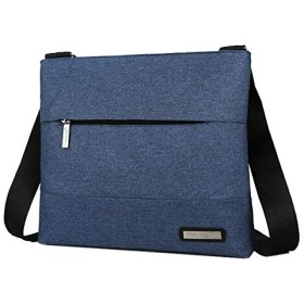 軽くシンプルなメンズメッセンジャーバッグ,ショルダークロスボディスリング (ブルー)