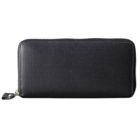 [アッシュエル] 財布 ラウンドファスナー ブラック